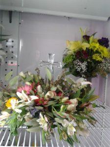 Crystal Cross Easter Flowers Arrangement