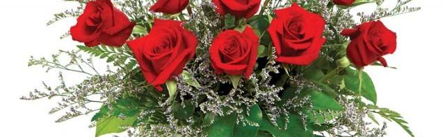 One Dozen Red Roses in Vase