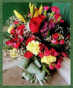 flower filled vase florists little falls ny rosepetals florist