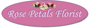 logo for rose petals florist