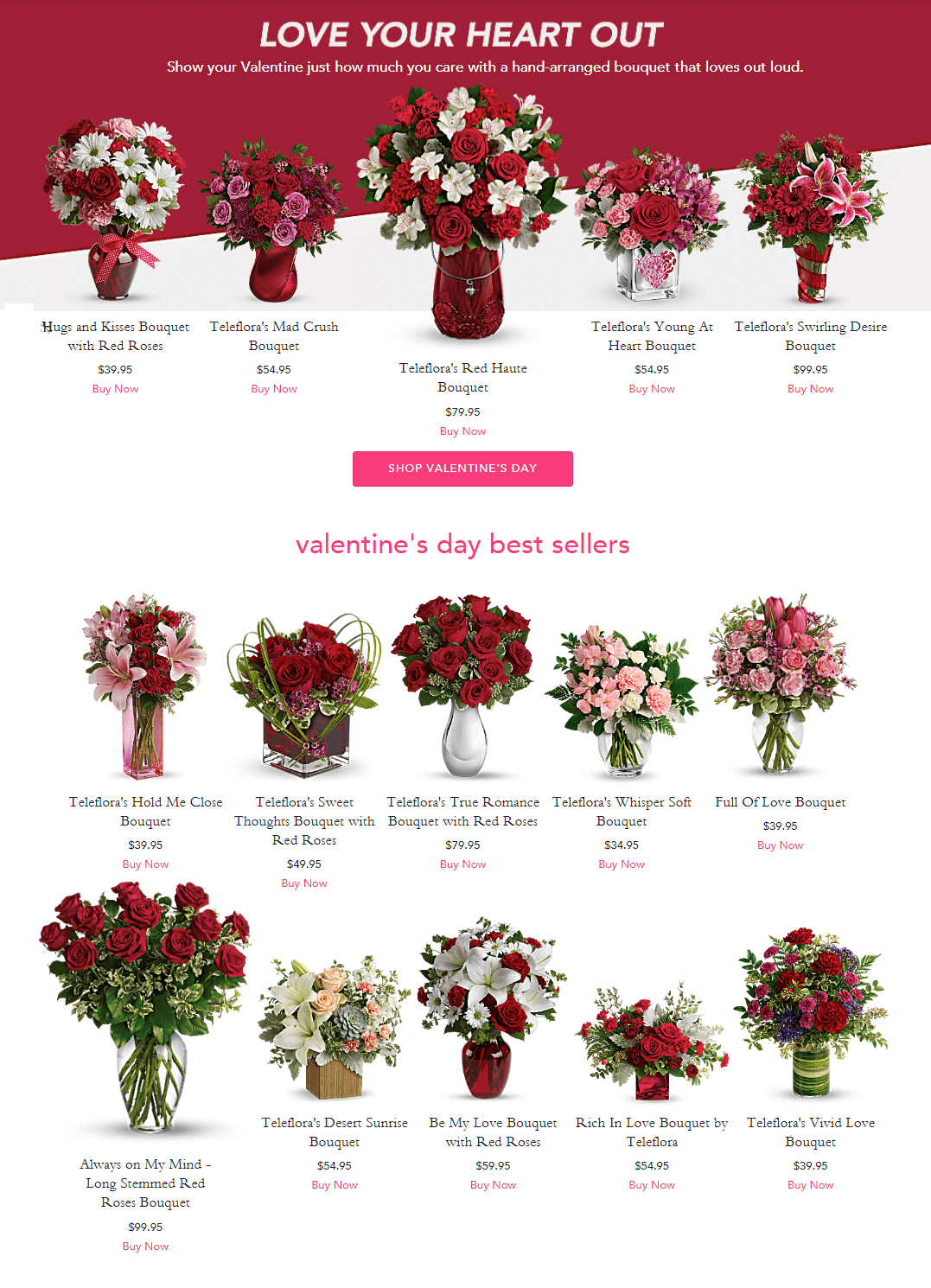 Valentine's Day Flowers from Teleflora for Out-of-town