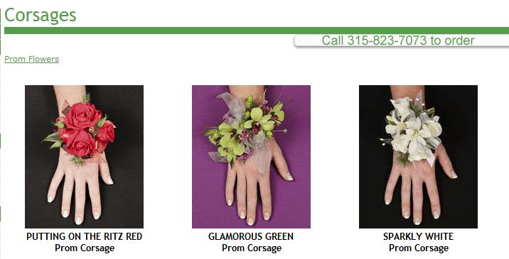 Wrist corsages group 1