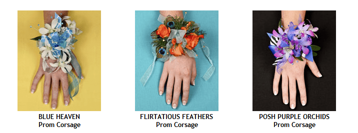 Corsages - Prom Flowers - group 4