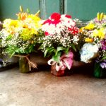 Mothers-Day-Bouquets-in-Colorful-Vintage-Mason-Jars