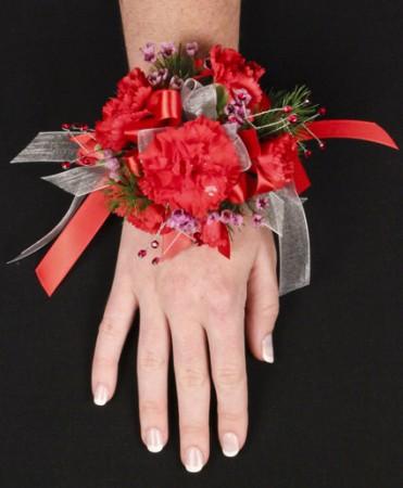 Crimson Carnation Prom Corsage