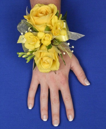 Glowing Yellow Prom Corsage