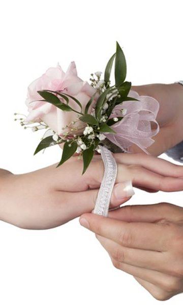 Pink Rose Wrist Corsage
